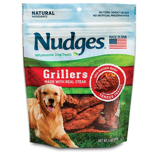 Nudges® Grillers Dog Treats, 5 oz. from American Packaging Corporation