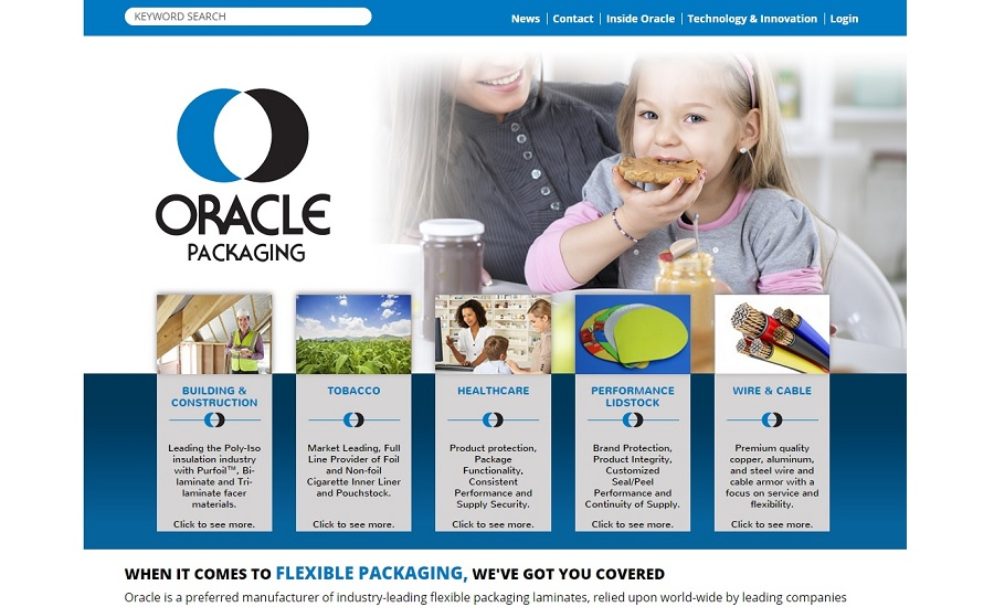 Oracle Packaging Website