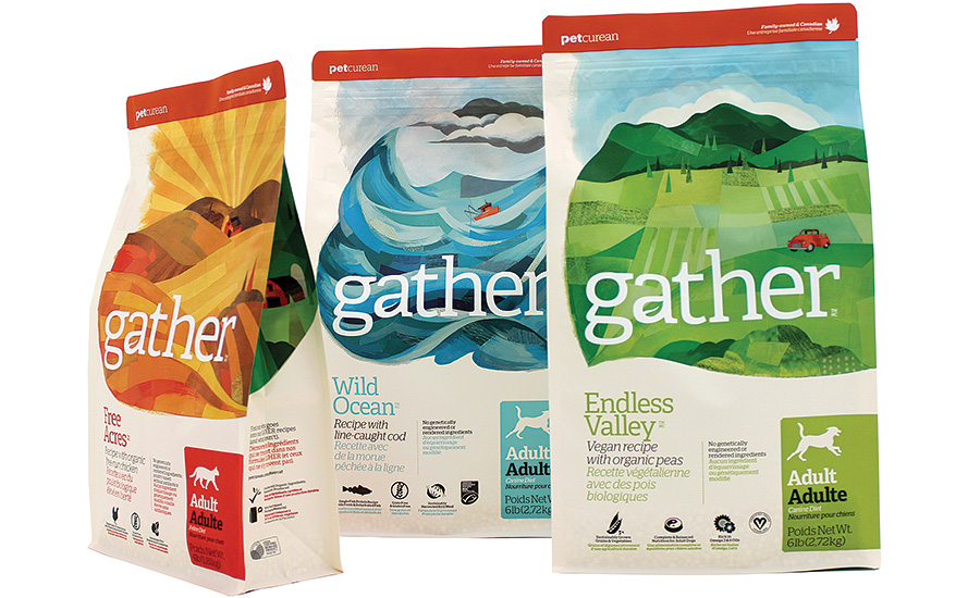 Pet food company Petcurean uses Peel Plastics' packages for its Gather brand