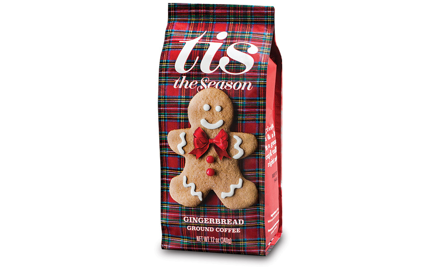 Tis the Season Gingerbread Ground Coffee packaging by American Packaging Corporation