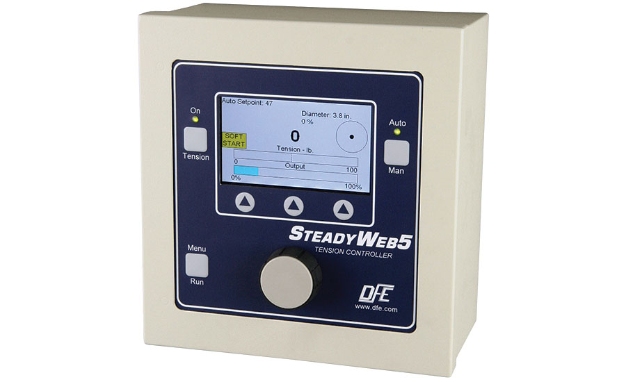 Dover Flexo Electronics' state-of-the-art digital tension controller, the SteadyWeb5