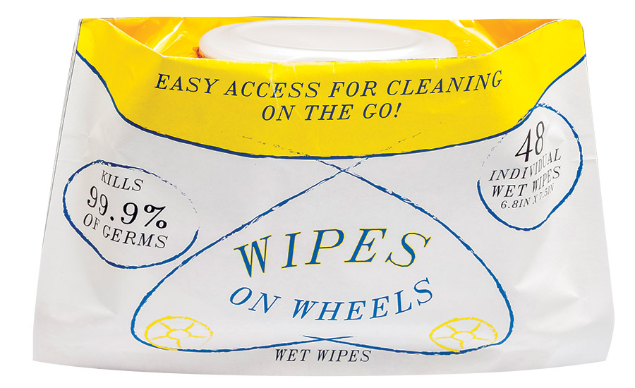 FPA 2017 Student Flexible Packaging Design 1st Place Winner, Wipes on Wheels