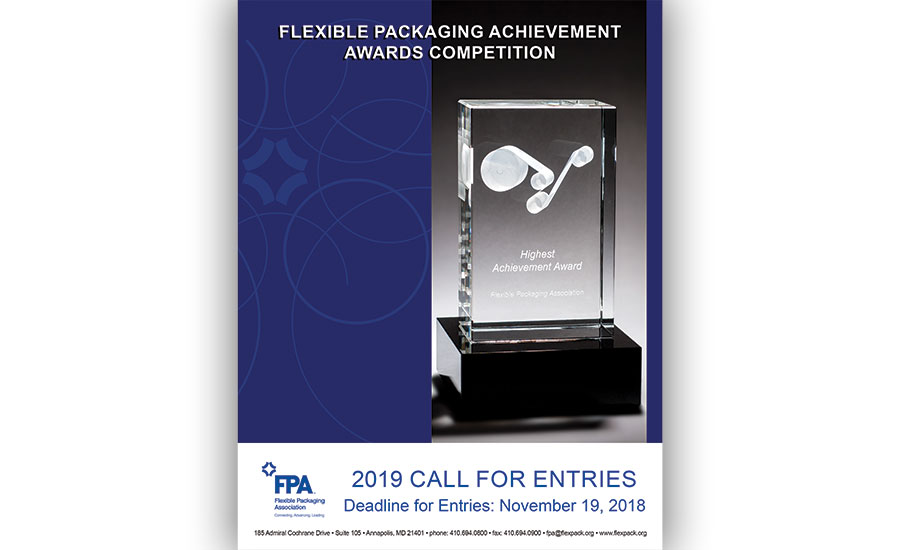Call for Entries: FPA 2019 Flexible Packaging Achievement Awards