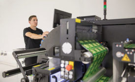 Self-adhesive, narrow web and linerless labels from Catapult