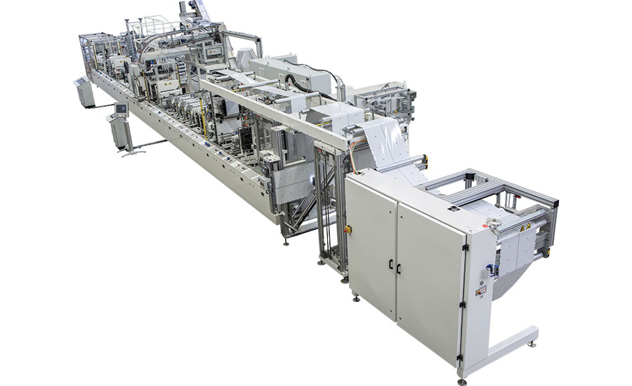 B&B Packaging Technology's STBB 8E pouch making machine