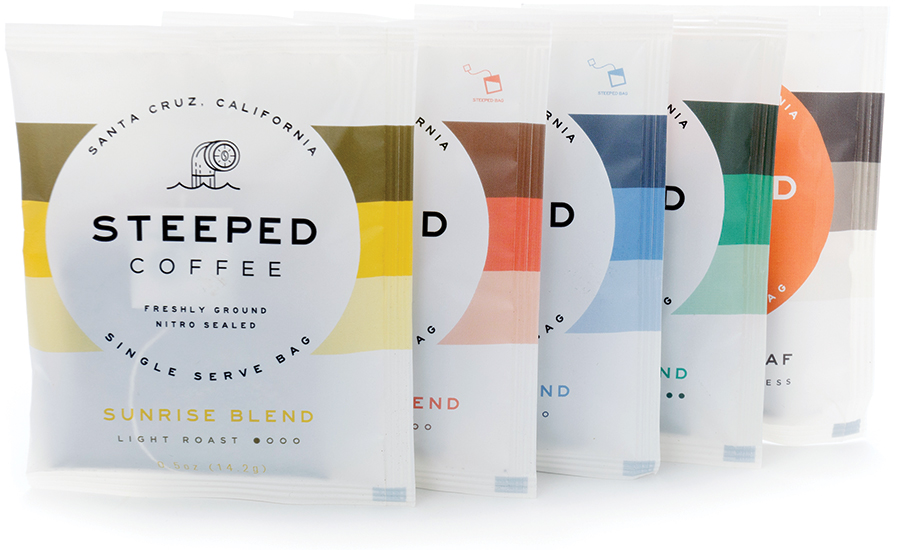 Steeped Coffee's Single-Serve Pouch Recognized for Recyclable Design