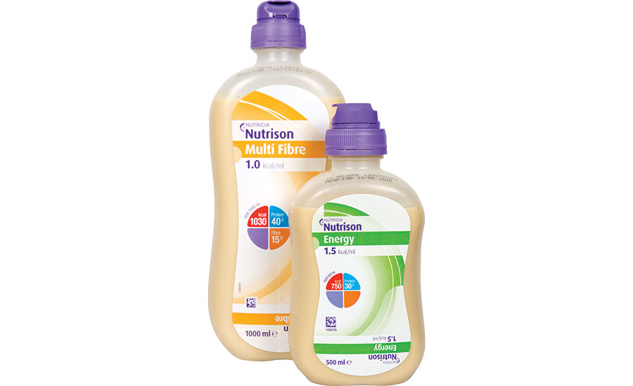 collapsible bottle for tube feeding nutrition