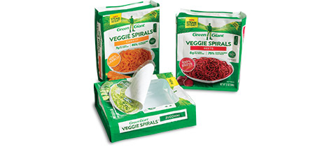Green Giant Veggie Spirals™ PrimaPak® Package from Sonoco Flexible Packaging