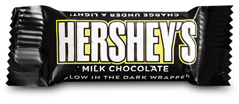 Hershey's Milk Chocolate Glow in the Dark Wrapper by American Packaging Corporation