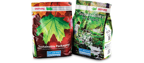 Sustainable Pouch with Easy-Lock (APLIX) Reclosable Feature by St. Johns Packaging Ltd.
