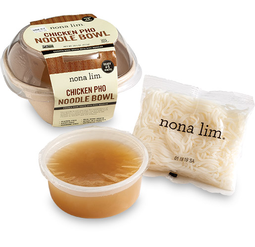 Nona Lim Chicken Pho Noodle Bowl by Emerald Packaging, Inc.