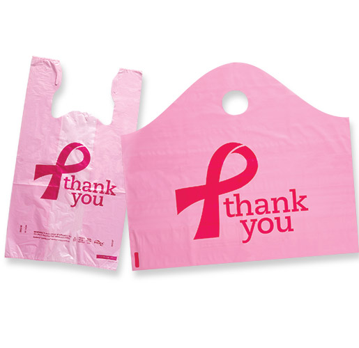 Breast Cancer Awareness Pink T-Shirt and Sinewave Bags