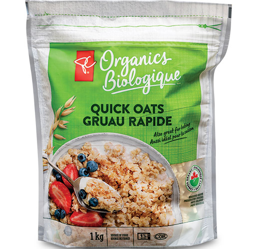 Grain Millers: PC Organic Quick Oats by TC Transcontinental Packaging