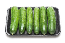 cucumbers, tray packaging