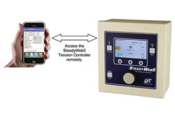 Tension controller with built-in Wi-Fi server