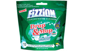 Palmas Printing has expanded into household packaging products with pouch packaging for Fizzion Drop & Mop