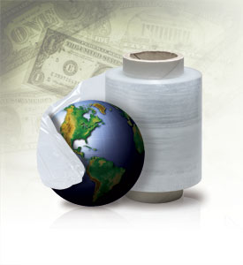 packaging, globe, money background