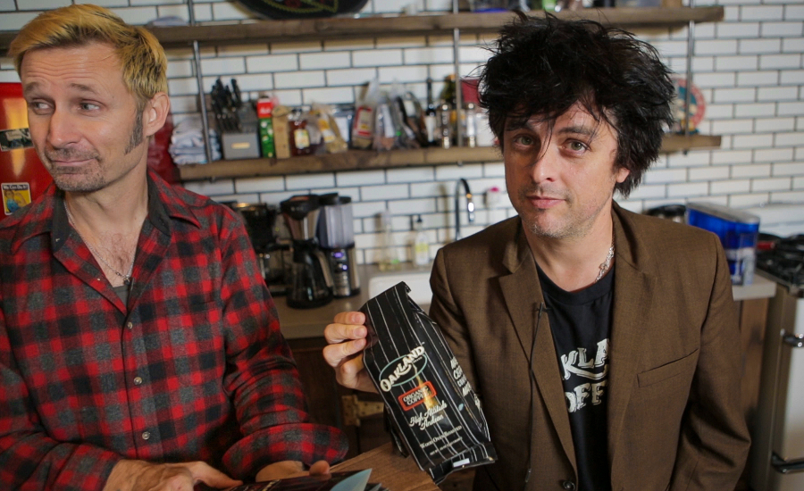 Green Day guitarist/frontman Billie Joe Armstrong and bassist Mike Dirnt own Oakland, California-based Oakland Coffee Works