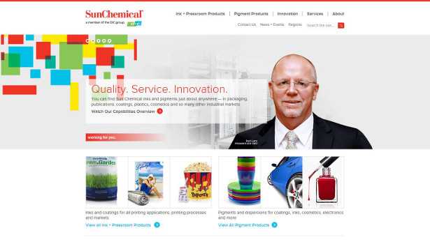 Sun Chemical new website homepage1
