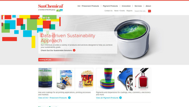 Sun Chemical new website homepage2