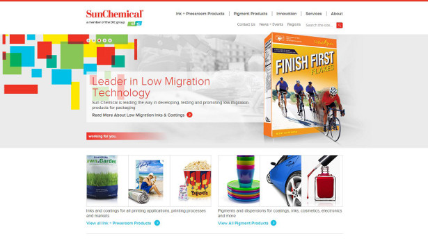 Sun Chemical new website homepage3