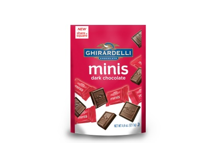 Chocolate minis pack pouches feature