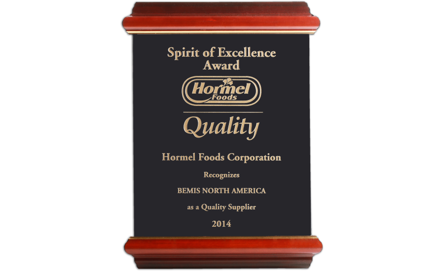 Bemis wins Hormel packaging award