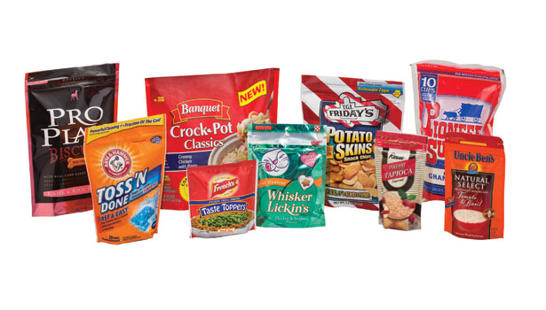 food products in pouches