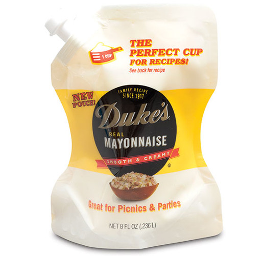 Duke's Mayonnaise 8 oz. pouch from ProAmpac