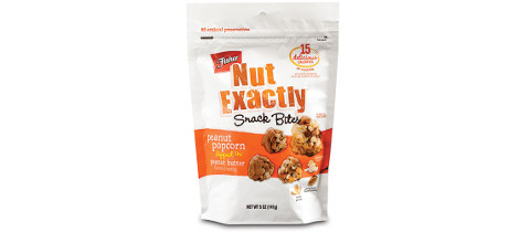Fisher Nut Exactly Snack Bites Stand Up Pouch with Metalized / Matte Finish from Clear Lam Packaging