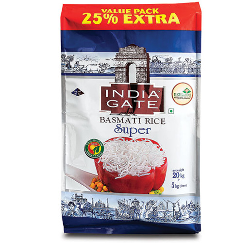India Gate Super Basmati Rice, 25 kg. from Paharpur 3P