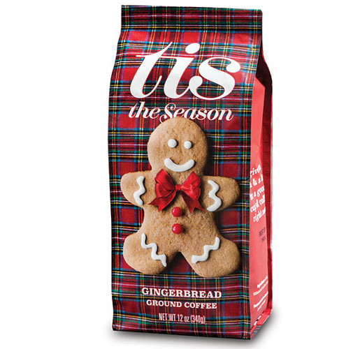 12oz Tis the Season Gingerbread Ground Coffee from American Packaging Corporation
