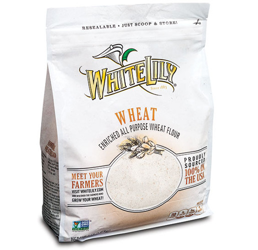 White Lily Flour Box Pouch with QuickZip from ProAmpac
