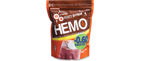HEMO Cocoa Instant Drink by A. Hatzopoulos S.A.