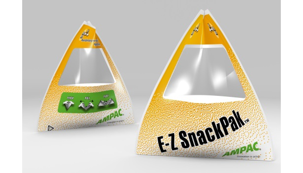 Ampac new package design for snack foods