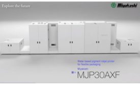 MJP30AXF Water based inkjet press by MIYAKOSHI